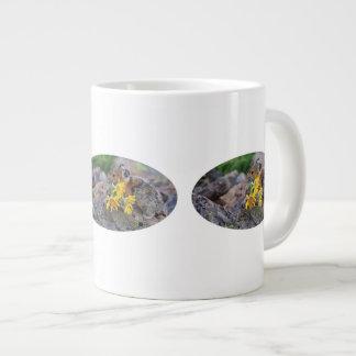 pika carrying wildflowers jumbo mug