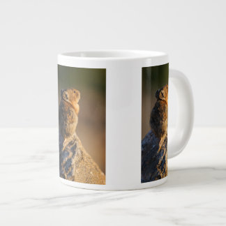 Pika in sunset light jumbo mug