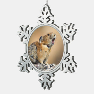 Pika Pewter Snowflake Decoration