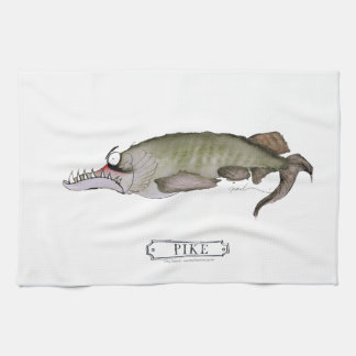 Pike fish, tony fernandes tea towel