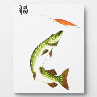 Pike fishing photo plaque