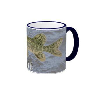 Pike Freshwater Fish, With Water Background Image Ringer Mug