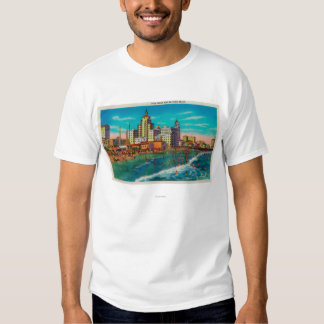Pike Front and Bathing Beach, Long Beach T Shirt