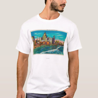 Pike Front and Bathing Beach, Long Beach T-Shirt