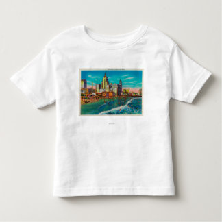 Pike Front and Bathing Beach, Long Beach T-shirts