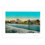 Pike Front and Long Beach, California Postcard