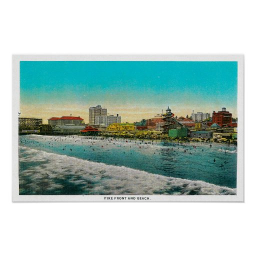 Pike Front and Long Beach, California Poster