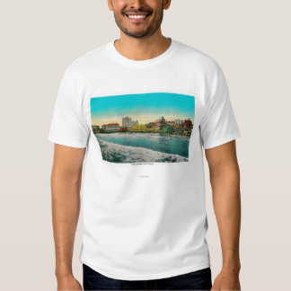 Pike Front and Long Beach, California Tee Shirt