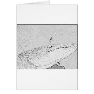 Pike on a lure card
