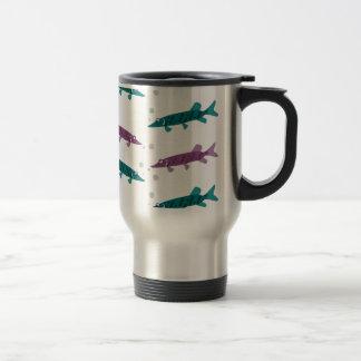 Pike pattern coffee mugs