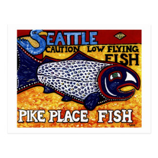 Pike Place Fish Postcard