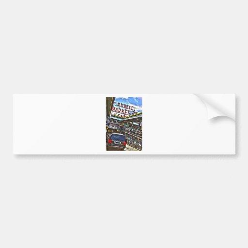 Pike Place Market Car Bumper Sticker
