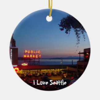 Pike Place Market Christmas Ornament