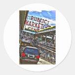 Pike Place Market Classic Round Sticker