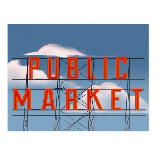 Pike Place Market Postcard