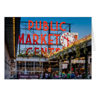 Pike Place Public Market Greeting Card