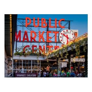 Pike Place Public Market Postcard
