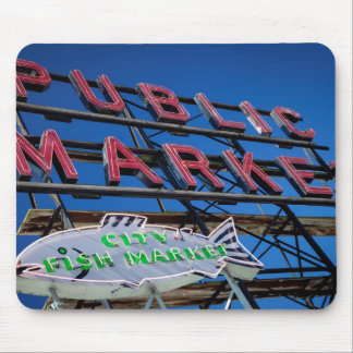 Pike Place Public Market Sign Mouse Mat