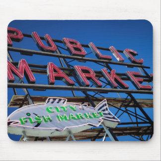 Pike Place Public Market Sign Mouse Pad