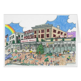 Pike's Market Place, Seattle, Washington in the Card