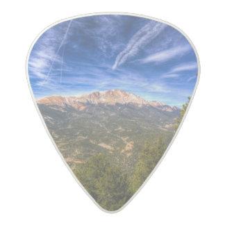 Pikes Peak and Blue Sky Acetal Guitar Pick