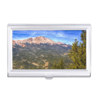 Pikes Peak and Blue Sky Business Card Holder