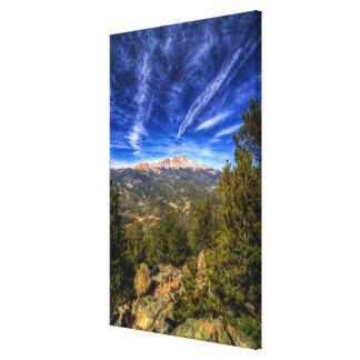 Pikes Peak and Blue Sky Canvas Print