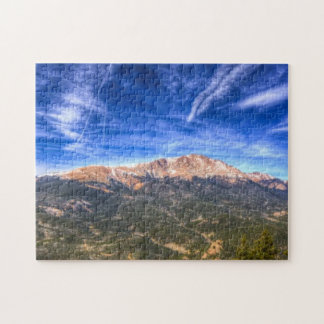 Pikes Peak and Blue Sky Jigsaw Puzzle
