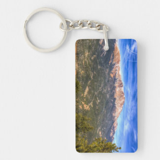 Pikes Peak and Blue Sky Key Ring