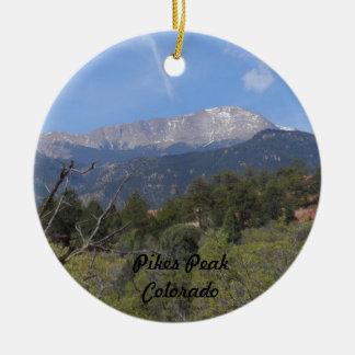 Pikes Peak- Colorado Springs Christmas Ornament