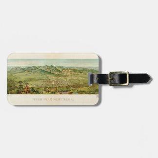 Pikes Peak, Colorado Springs, Colorado (1890) Luggage Tag