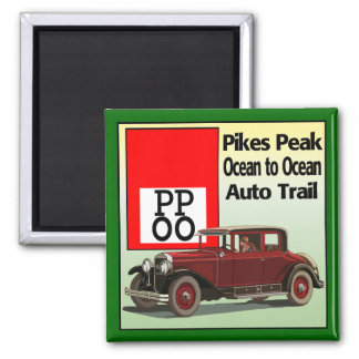 Pikes Peak Ocean to Ocean Auto Trail Magnet