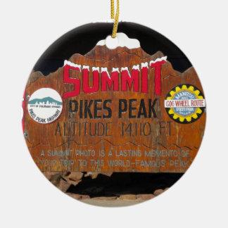 Pike's Peak Summit, Colorado Christmas Ornament