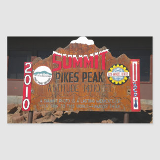 Pike's Peak Summit, Colorado Rectangular Sticker
