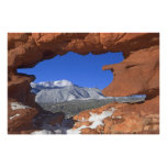 Pikes Peak through Sandstone Hole 01 Poster