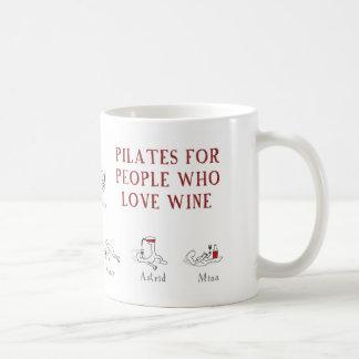 pilates basic white mug