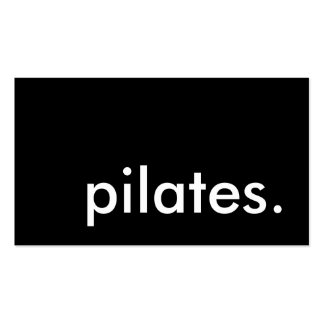 pilates. (color customizable) pack of standard business cards