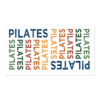 Pilates Cute Colorful Business Cards