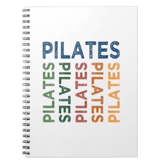 Pilates Cute Colorful Spiral Notebook