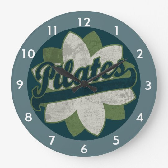 Pilates Flower Wallclock