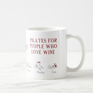 "Pilates for people who love wine ""Harold's Planet"" Basic White Mug"