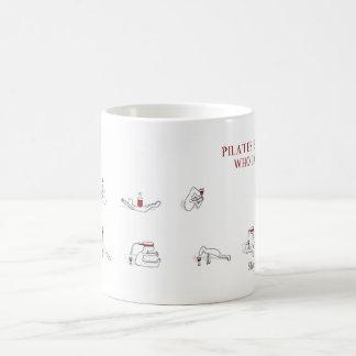 Pilates for people who love wine Harold's Planet Coffee Mug
