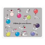 Pilates for wine lovers postcard, grey