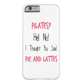 Pilates Funny Quote, Black and Pink Barely There iPhone 6 Case