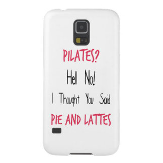 Pilates Funny Quote, Black and Pink Galaxy S5 Cases