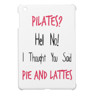 Pilates Funny Quote, Black and Pink iPad Mini Cover