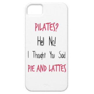 Pilates Funny Quote, Black and Pink iPhone 5 Cases