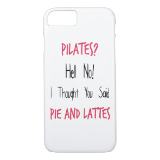 Pilates Funny Quote, Black and Pink iPhone 7 Case