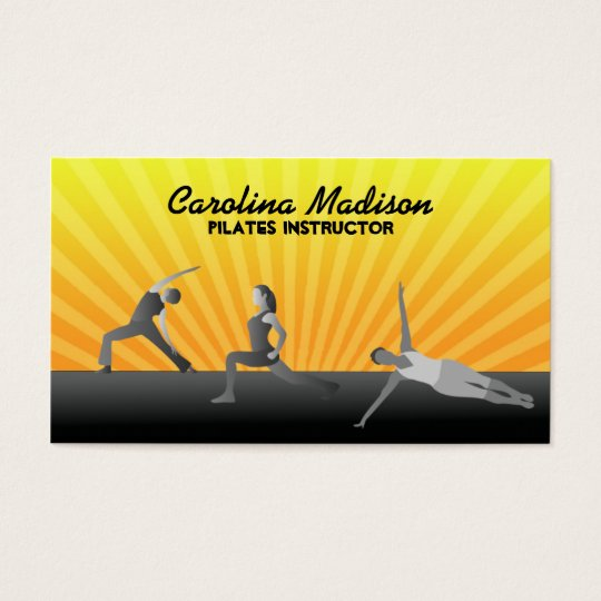 Pilates Instructor Business Cards
