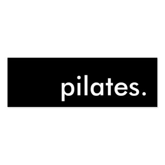 pilates. pack of skinny business cards